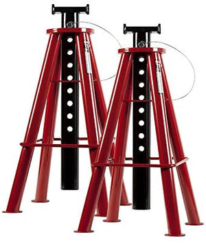 Sunex 1410 10-Ton, High Height, Pin Type, Jack Stands, Pair - MPR Tools & Equipment