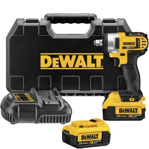 DEWALT DCF880HM2 20-volt Max Lithium Ion 1/2-Inch Impact Wrench Kit with Hog Ring. Yellow