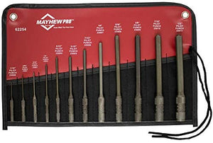 Mayhew Pro 62254 112-K Pilot Punch Kit. 12-Piece