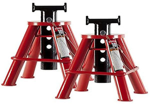 Sunex 1210 10-Ton Low Height Pin Type Jack Stands, Pair - MPR Tools & Equipment