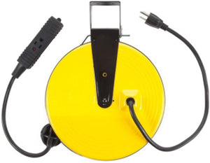 Bayco SL-800 Retractable Metal Cord Reel with 3 Outlets - 30 Foot