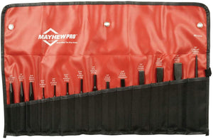Mayhew Pro 61044 Punch and Chisel Kit.  14-Piece