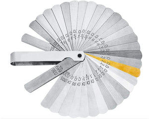 Lang Tools 32 Blade Feeler Gauge with Brass Blades 36A
