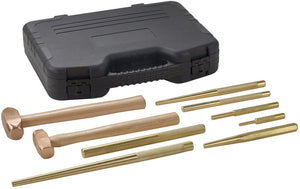OTC 4629 9 Piece Master Brass Hammer and Punch Set - MPR Tools & Equipment