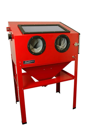 "Homak Manufacturing RD00924380 36-3/8"" Vertical Abrasive Blast Cabinet. Red - MPR Tools & Equipment"