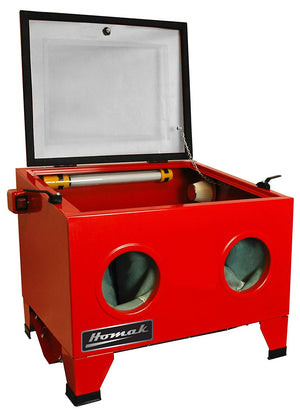 Homak 23-Inch Table Top Abrasive Blast Cabinet. Red. RD00920250 - MPR Tools & Equipment