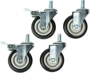 "Titan 4pc 4"" Heavy Duty Swivel Casters - MPR Tools & Equipment"