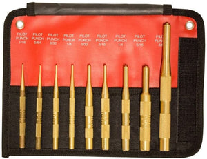 Mayhew Tools 61367 9 Piece Brass Pilot Punch Set