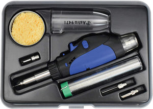 Astro Pneumatic Tool - 8Pc Butane Micro Pencil Soldering Kit (AST-9473)