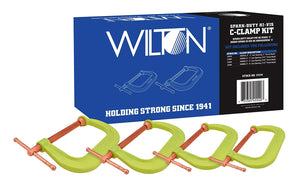 Wilton 11114 Spark-Duty 400CS Hi-Vis C-Clamp Kit - MPR Tools & Equipment