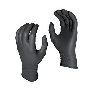 Watson WTS5555PFL (50)8 Mil Black Nitrile Gloves Large - MPR Tools & Equipment