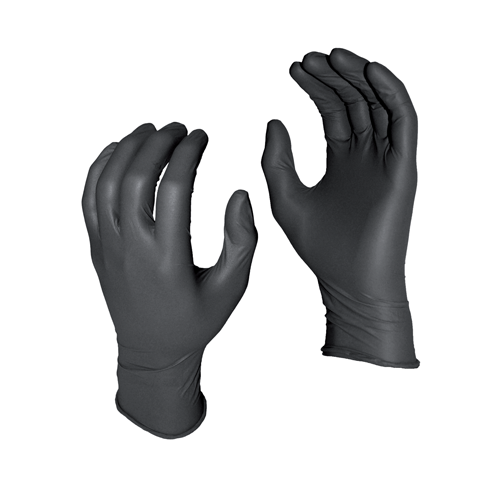 Watson WTS5555PFL (50)8 Mil Black Nitrile Gloves Large