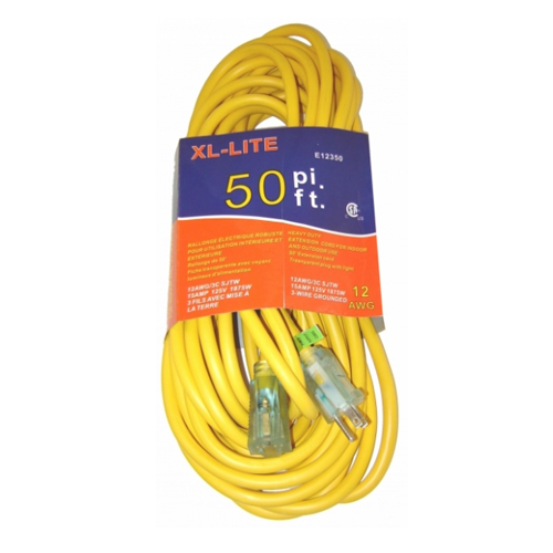 Rodac RDE12350 Extension Cord 12 Gauge X 50'