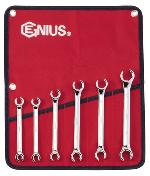 Genius GNSFN006M Metric Flare Nut Wrench Set 6P
