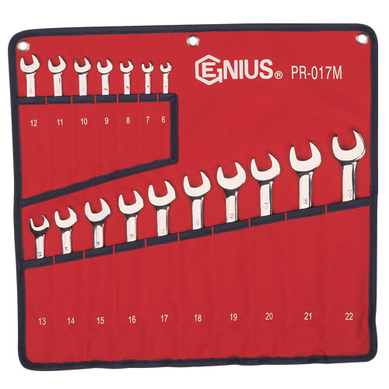 Genius GNSPR017M 17 Pc 6Mm-22Mm Combination Wrench Set
