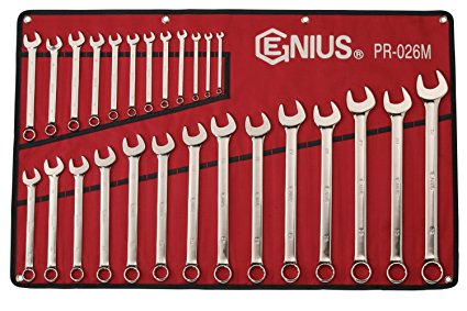Genius GNSPR026M 26 Pc Metric Combination Wrench