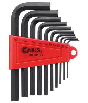 "Genius GNSHK010S 10Pc Sae Hex Key Sae 1/16"" 3/8 - MPR Tools & Equipment"
