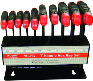 "Rodac RDCH10S ""T"" Handle Hex Wrench Set Sae"