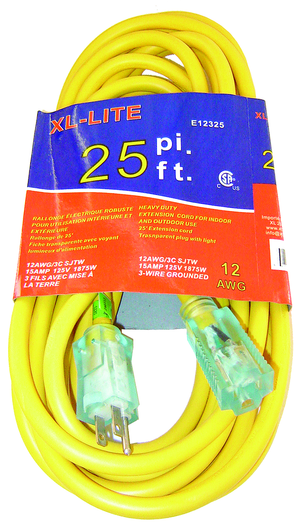 Rodac RDE12325 Extension Cord 12 Gauge X 25' - MPR Tools & Equipment