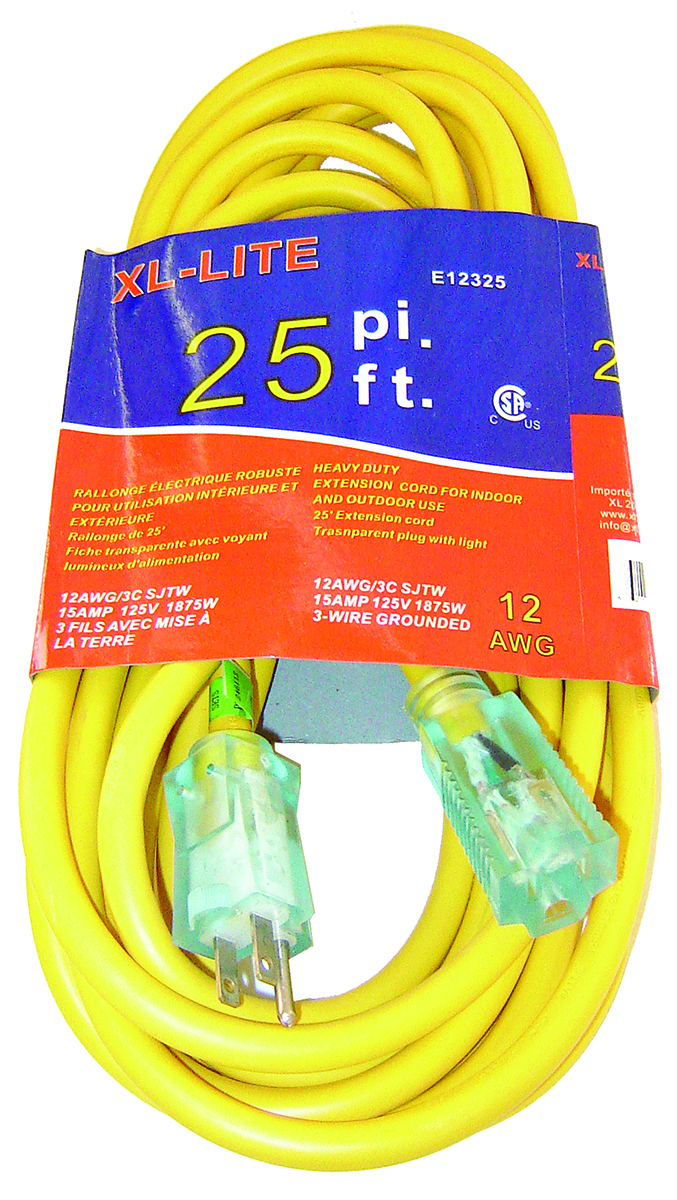 Rodac RDE12325 Extension Cord 12 Gauge X 25'