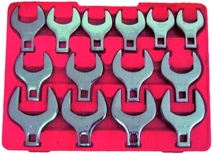 Rodac RDXL90150 (14Pc) Jumbo Crowfoot Wrench Set Sae