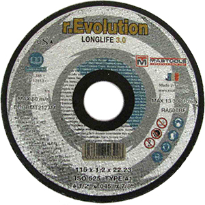 "Extreme Abrasives RD70114 Cutting Wheel 5""X.045""X7/8"" T27 Alu.46Nbf Quickie"