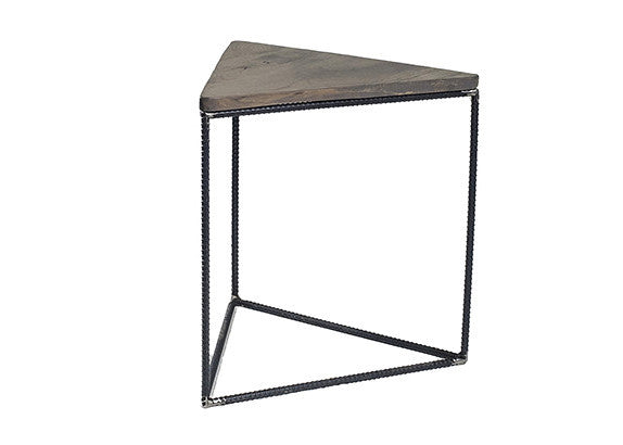 Rebar Jones Triangle End Table