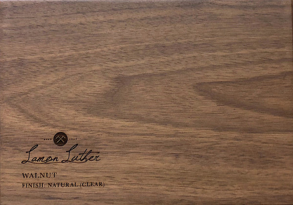 Natural Walnut (Clear Finish)