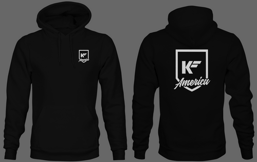 KFA Black and White Hoodie