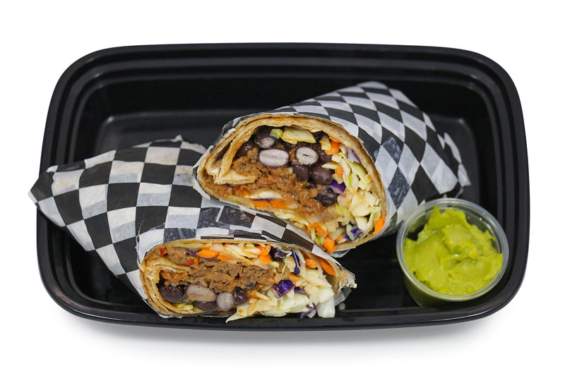 Southern Style Beyond Your Meat Black Bean Wrap
