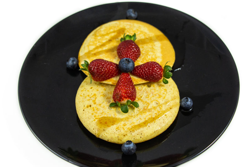 Buttermilk Protein Pancakes With Fresh Berries & Zero Calorie Pancake Syrup-Premium Meals