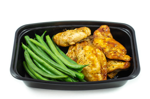 Boneless Chicken Thighs & Green Beans
