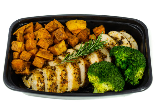 Smokey Cumin Chicken Breast With Garam Masala Sweet Potatoes And Broccoli
