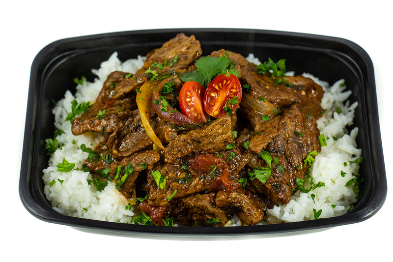 Tomato Herb Stewed Beef On Jasmine White Rice