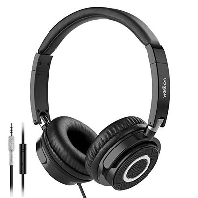 On Ear Headphones with Mic, Vogek Lightweight