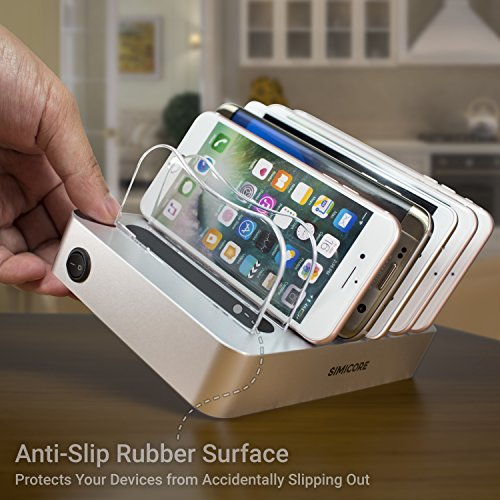 Simicore Smart Charging Station Dock & Organizer for Smartphones, Tablets & Other Gadgets