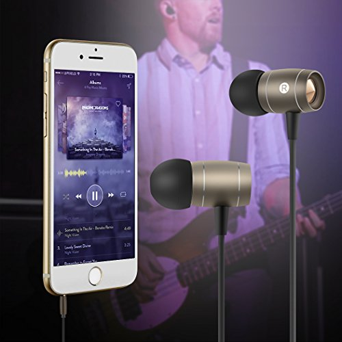 Besiva Headphones, in-Ear Earbuds Noise Isolation Headsets