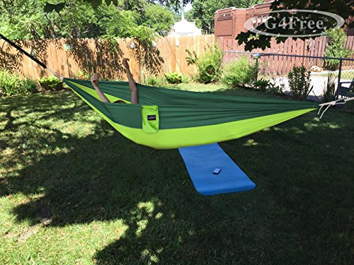 G4Free Double Camping Hammock - Portable High Strength Hammock - Lightweight Blend