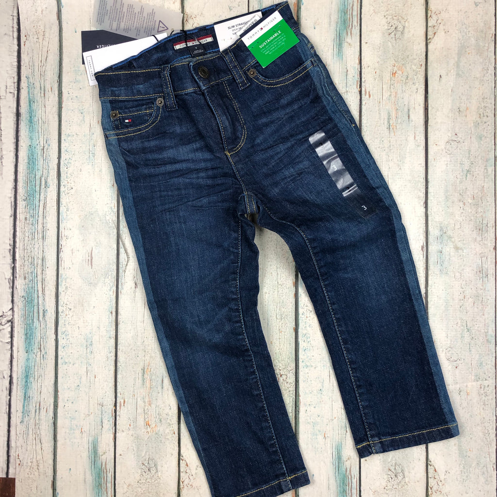 Tommy Hilfiger Slim Straight 'Sustainable' Jeans- Size 3T