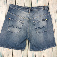 7 for all Mankind Stretch Denim Shorts  - Size 25