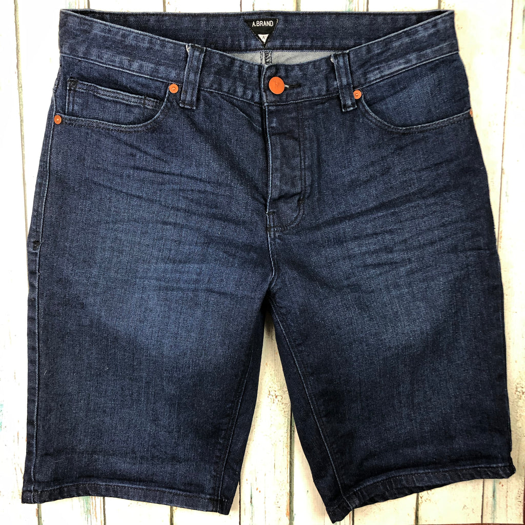 A Brand Mens Stretch Denim Shorts -Size 30