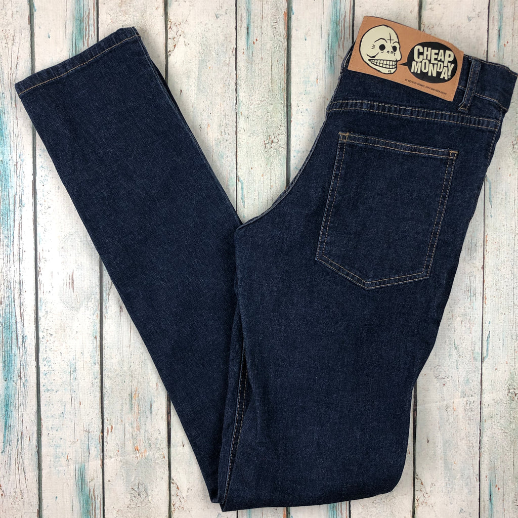 Cheap Monday 'Tight V Star One Wash' Jeans - Size 29/34