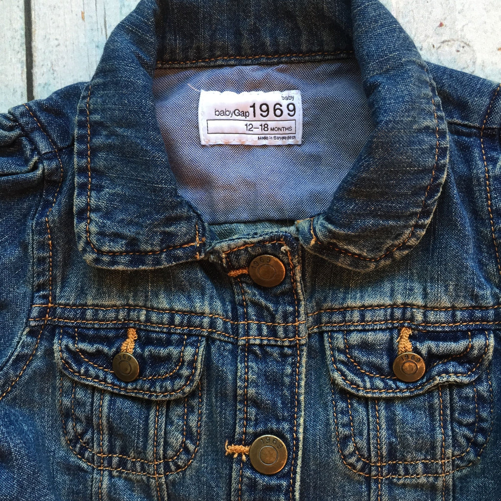 ae49343a96f6 Baby Gap Girls Denim Jacket - Size 12 18M – Jean Pool