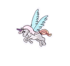 Flying Unicorn - Embroidered Cloth Patch-Jean Pool