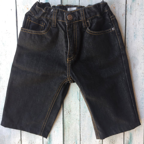 Seed Boys Long Denim Shorts - Size 9-Jean Pool