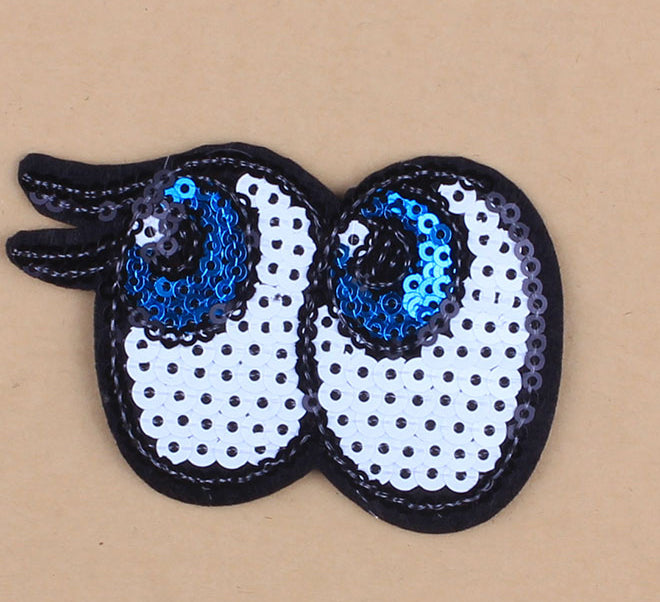 Eyes - Embroidered Sequin Patch-Jean Pool