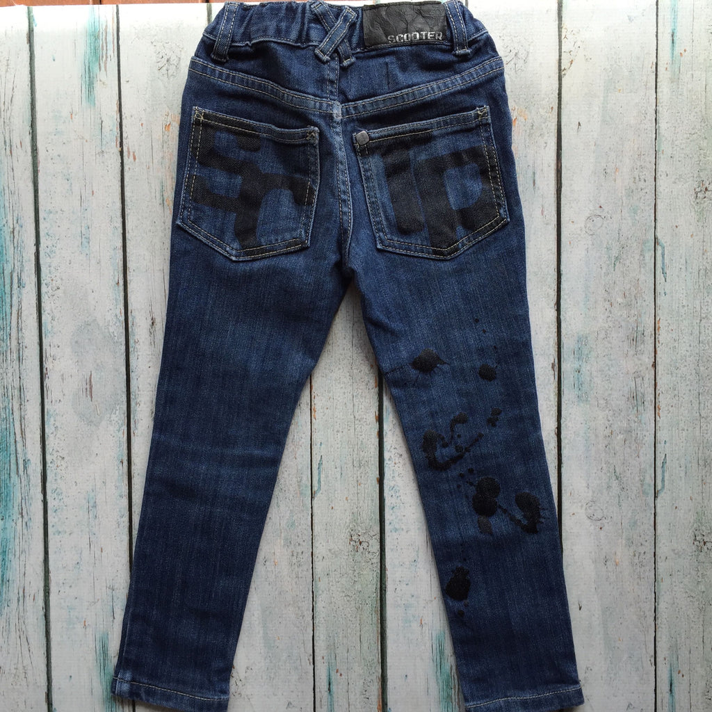 Scooter Boys Ink Splash Skinny Jeans - Size 3-Jean Pool