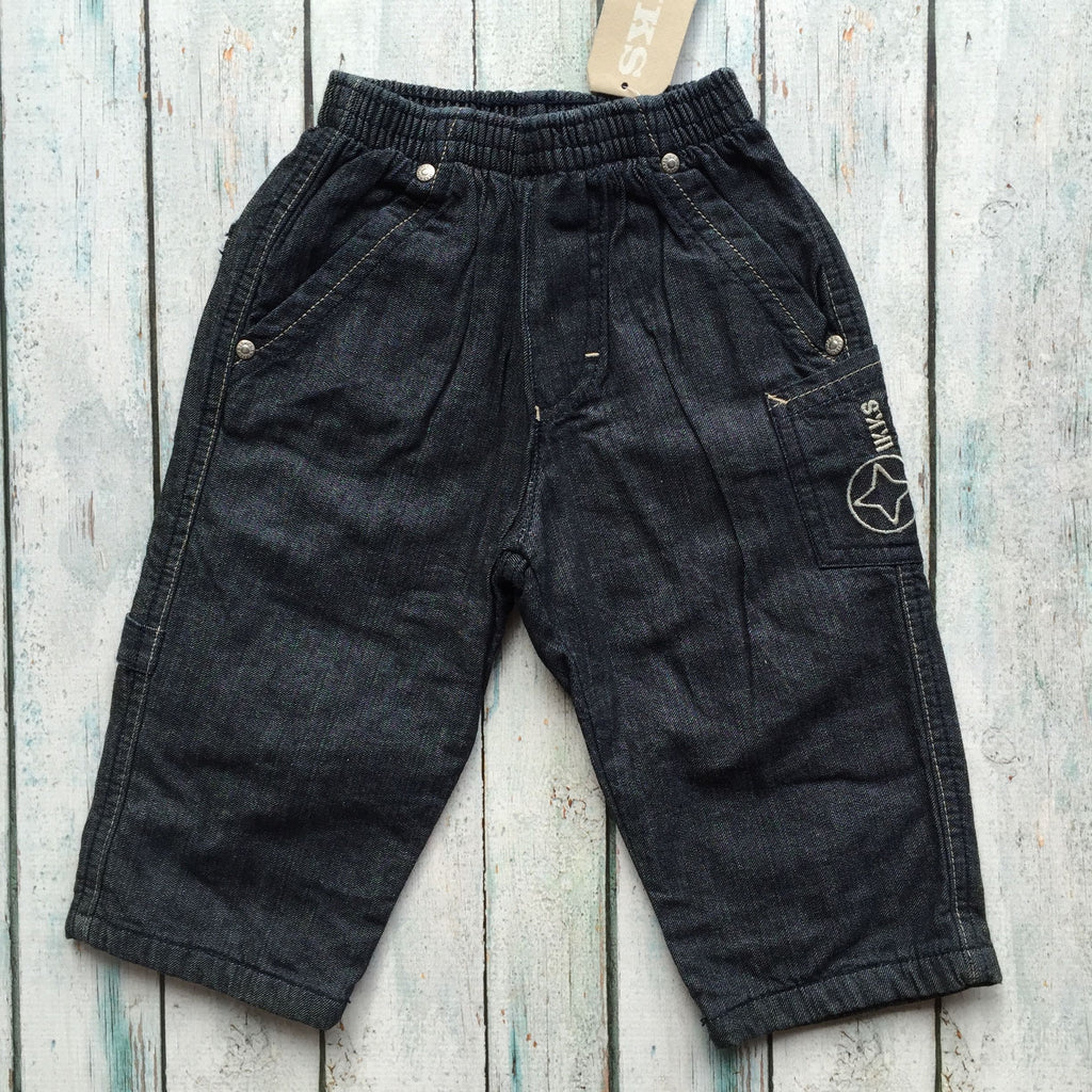 NWT - IKKS Lined Pull on Boys Jeans RRP $112.00 - Size 24M-Jean Pool