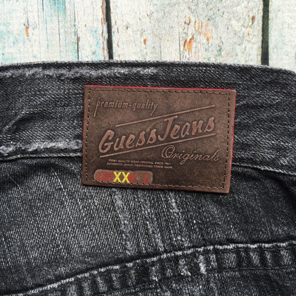 Guess 'Slauson' Black Distressed Denim Jeans - Size 28-Jean Pool