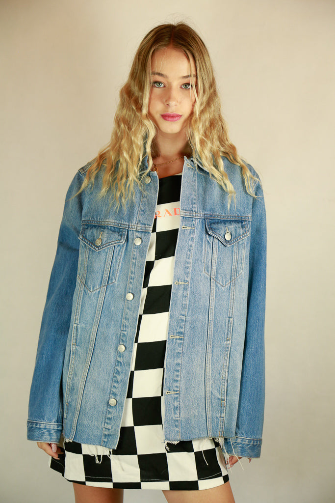 Lovers + Friends 'LOVERS' Denim Jacket - Size M
